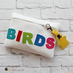 In the Hoop Bird Puppets Bag and Bag Tag