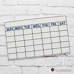 Pretend Play - ITH - Blank Calendar