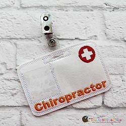 Pretend Play - ITH - Chiropractor Badge ID Tag