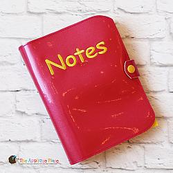 Notebook Holder - Notebook Case - Cover for 5x7 Spiral Bound Notebook with Pen