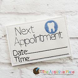 Pretend Play - ITH - Dentist Appointment Card