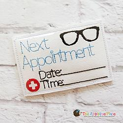 Pretend Play - ITH - Eye Doctor Appointment Card