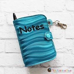 Key Fob - Notebook Case - Mini Composition (Eyelet)