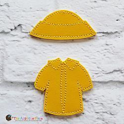 Feltie - Raincoat and Hat