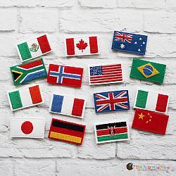 Pretend Play - ITH - Felties - Flags - Set 1
