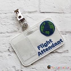 Pretend Play - ITH - Flight Attendant Badge ID Tag