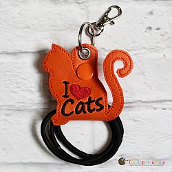 Hair Thing Holder - Key Fob - I Heart Cats