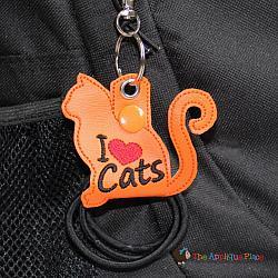 Hair Thing Holder - Key Fob - I Heart Cats