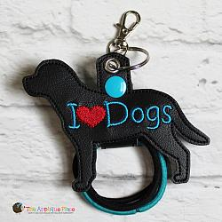 Hair Thing Holder - Key Fob - I Heart Dogs