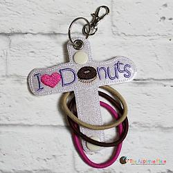 Hair Thing Holder - Key Fob - I Heart Donuts