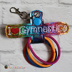 Hair Thing Holder - Key Fob - I Heart Gymnastics