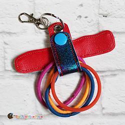 Hair Thing Holder - Key Fob - I Heart Gymnastics