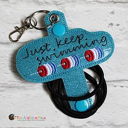 Hair Thing Holder - Key Fob - Just Keep Swimming