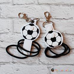 Hair Thing Holder - Key Fob - Soccer Ball