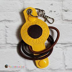 Hair Thing Holder - Key Fob - Sunflower