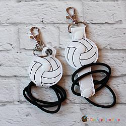 Hair Thing Holder - Key Fob - Volleyball