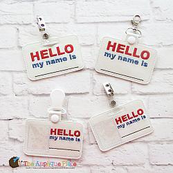 Pretend Play - ITH - Name Badge ID Tag