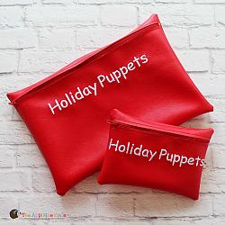 In the Hoop Holiday Puppet Bag