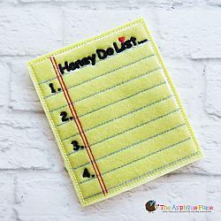 Pretend Play - ITH - Honey Do List