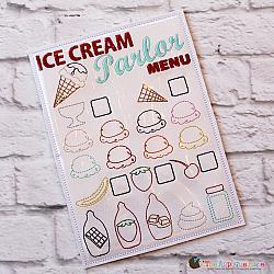 Pretend Play - ITH - Ice Cream Parlor Menu