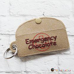 Case - Key Fob - Emergency Chocolate Case - Rectangle (Eyelet)