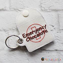 Case - Key Fob - Emergency Chocolate Case - Square (Eyelet)