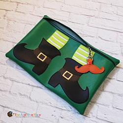 ITH - Leprechaun Shoe Bag and Mustache Bag Tag
