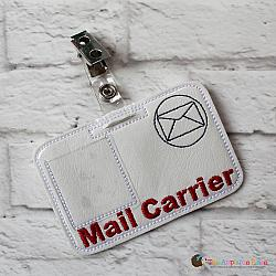 Pretend Play - ITH - Mail Carrier Badge ID Tag