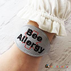 Pretend Play - ITH - Medical Alert Bracelet/Double Key Fob - Bee Allergy