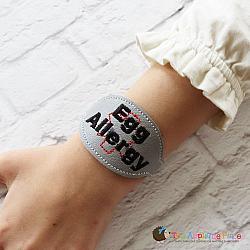 Pretend Play - ITH - Medical Alert Bracelet/Double Key Fob - Egg Allergy