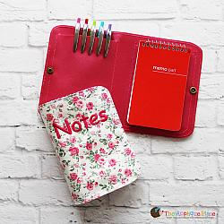 Notebook Holder - Notebook Case - Double Pocket - 6x10 (No Tab)