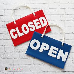 Pretend Play - ITH - Open/Closed Sign