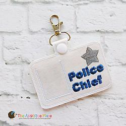 Pretend Play - ITH - Police Chief Badge ID Tag