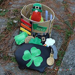 ITH - Leprechaun Pot Bag and Gold Coin Bag Tag