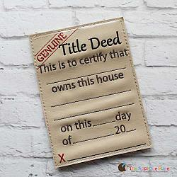 Pretend Play - ITH - Title/Deed