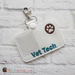 Pretend Play - ITH - Vet Tech Badge ID Tag