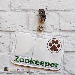 Pretend Play - ITH - Zookeeper Badge ID Tag