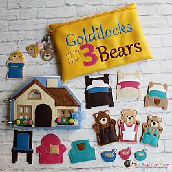 Puppet Set and Quiet Book - Goldilocks and the Three Bears