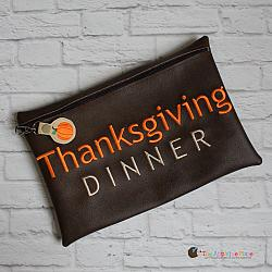 ITH - Thanksgiving Dinner Bag and Pumpkin Bag Tag