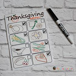 ITH - Thanksgiving Dinner Menu