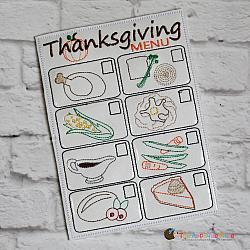Pretend Play - ITH - Thanksgiving Dinner Menu