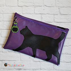 Pretend Play - ITH - Black Cat Bag and Cauldron Bag Tag