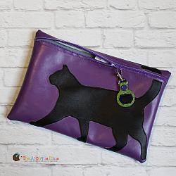 ITH - Black Cat Bag and Cauldron Bag Tag